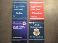 4 GCSE Revision Guides - Biology, Chemistry, History and Business Studies; £2.00 Each