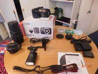 Canon EOS-M Camera + Extras