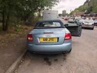 Audi A4 convertible for sale with private plate