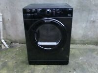 Hotpoint vented tumble dryer , black with warranty .