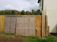 Fence panels an post