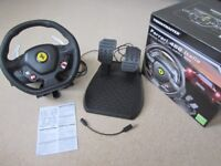 THRUSTMASTER FERRARI 458 ITALIA RACING/GAMING WHEEL FOR XBOX 360 / PC - GREAT CHRISTMAS PRESENT
