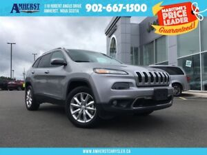 2017 Jeep Cherokee LTD,V6,4X4,LEATHER HEATED&COOLED SEATS,SUNROO