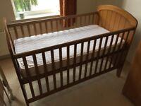 Oak hill cot bed and mattress