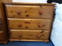Solid pine chests of drawers £50 each