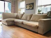 Good quality L shape sofa Sectional modular 3 seater sofa from Pondsford Sheffield