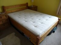 Beautiful Hand-Crafted Solid Pine Wood Double Bed Frame - Immaculate Condition