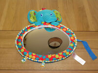 Child car mirror. Used for rear facing child seat