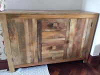 Mango wood solid sideboard from Mantis Light range