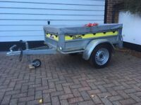 Franc full tilt trailer complete with cover and two securing straps for sale - Woking