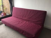 IKEA Sofa Bed Beddinge Lovas in Cerise Red - 3 seaters