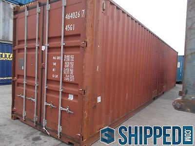 40ft Intermodal Cargo Container Home Storage - Best Price In Texas - We Deliver