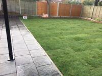 Garden landscaping & driveway