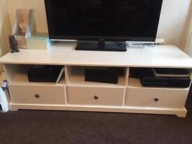 White Ikea Liatorp TV Stand