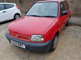 Nissan Micra red 1.3L 1993 car 5 door 12 months MOT 73,286 Miles