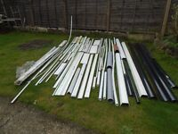 lots of plastic guttering pipes etc some new some off cuts