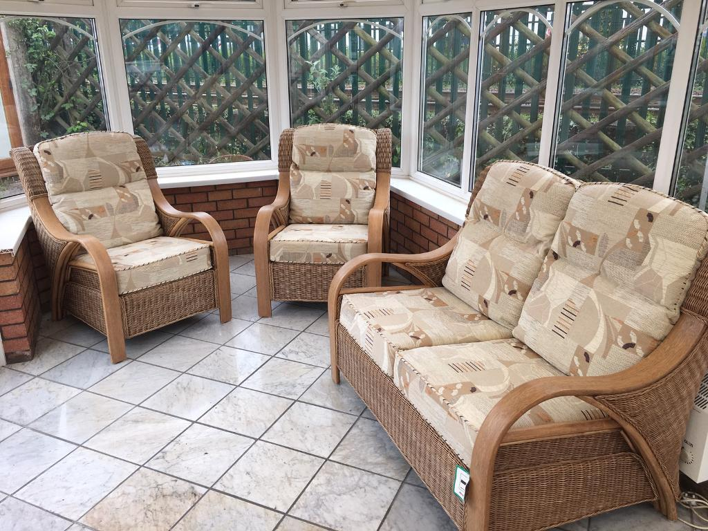 ex display daro waterford cane and rattan conservatory. Black Bedroom Furniture Sets. Home Design Ideas