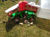 Various Toys - Farm Set, Poo Bear Honey pot, Play Mat, Fisherprice Pull truck, Wooden Alphabet