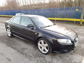 2006 AUDI A4 2.0 TDI SLINE 4 DOOR SALOON BLACK