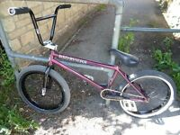 Light brakeless BSD David Grant BMX bike Amity wheel 2 piece LH crank Cult Saddle TMW tyre £225 bike