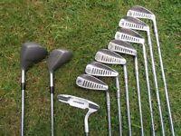 Simmons .Tiger-Shark 7 Irons, - PLUS - 2 Fairway Wood's, Putter & Bag.