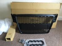 AUDI A4 B8 MODEL 2008-2012 BLACK HONEYCOMB MESH DEBADGED BADGELESS SPORTS GRILL