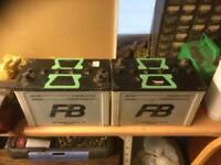 2 x fb 95D31R (Furukawa) car batteries. Used