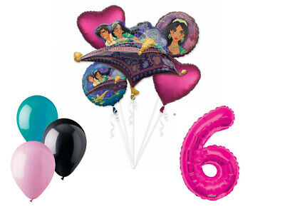 Aladdin Balloon Bouquet 6th Birthday Party Supplies Decoration Balloons - Jasmine Birthday Party Supplies