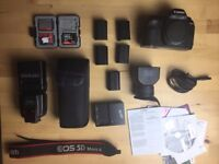 Canon 5D Mk II Full Frame DSLR + Original Box + ACCESSORIES!