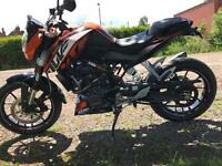 Ktm duke 200 spotless with extras and finance available £2499