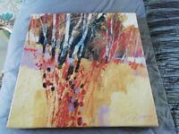 Beautiful woodland art canvas print- really striking colours
