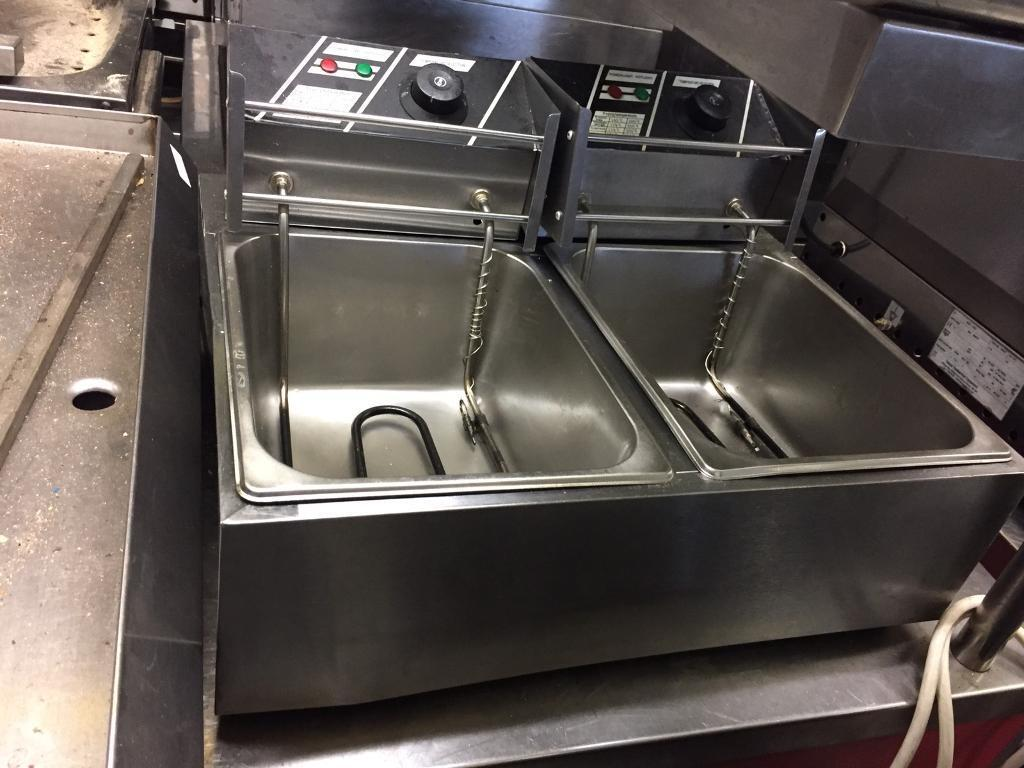 twin electric table top fryer