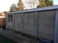 Free for collection concrete sectional garage