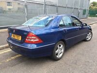 MERCEDES C220 CDI = AUTOMATIC DIESEL = 2003 = £1490 ONLY =