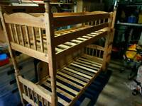 Pine bunk beds - narrow for caravan or small room - bespoke
