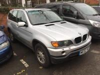 BMW X5 ,3.0D - Automatic - spares or repairs - left hand drive - LHD -export
