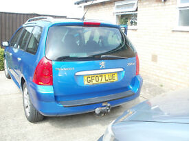 peugeot 307 sw estate 1.6 petrol 2007 77000 low miles good condition 1 years m o t £1595 ono