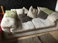 Sofa bed for sale bed used once so like new priced for quick sale we paid £700 , 2 years ago