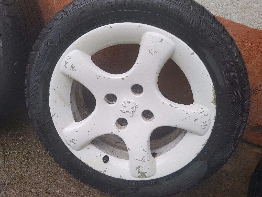 Peugeot Alloy Wheels with Tyres - £65