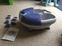 Visiq bubble foot spa with massage attachments