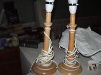 pair of pine lamps