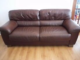 2 Leather sofas - 2 seater and 2.5 seater