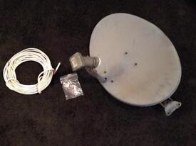 Sky Satellite Dish & 5m+ of Cable
