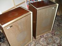 x2 vintage Chrysler tannoy speakers from the 1950s.