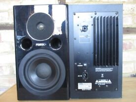 PA SPEAKERS TOA F500SR GREY PAIR  RARE  250W Full Range 2