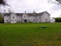 A BRAND NEW 6 BEDROOM COUNTRYSIDE HOME PLUS 2 BEDROOM COTTAGE WITH TRIPLE GARAGE FOR SALE OR TO RENT