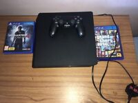 PS4 slim 500gb with 2 games and controller