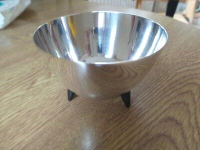 Art Deco Angora silver plate trinket bowl