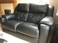 G-Plan Black leather 2 seater