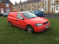 2003 Vauxhall Astra van crew cab 5 seats 124k
